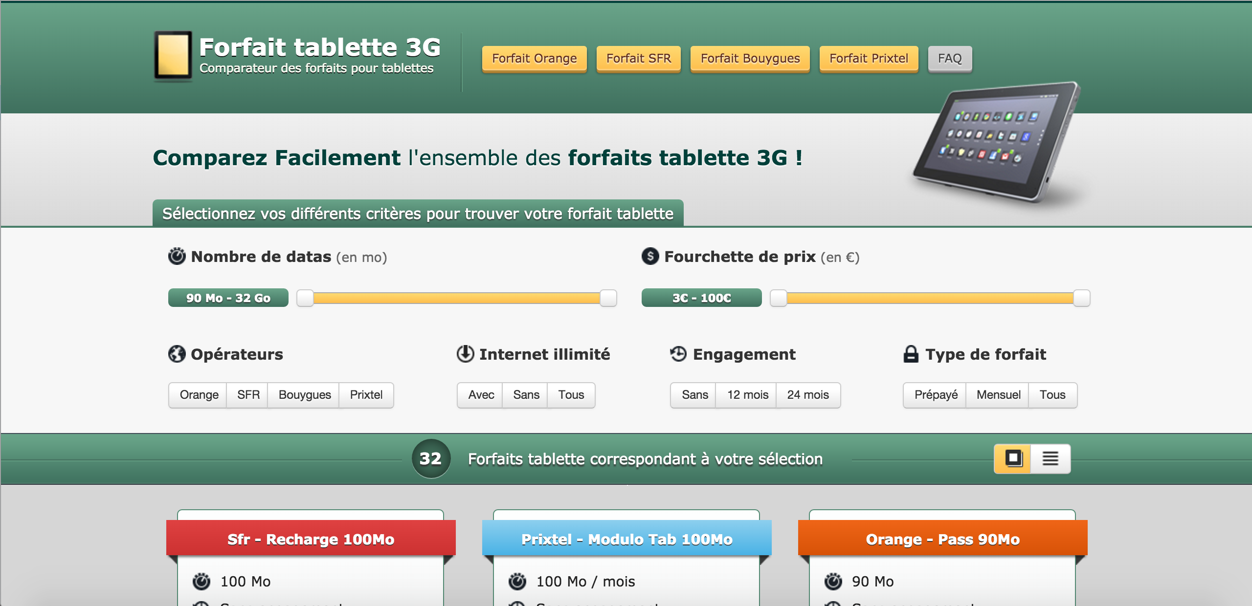 Comparateur forfaits mobile