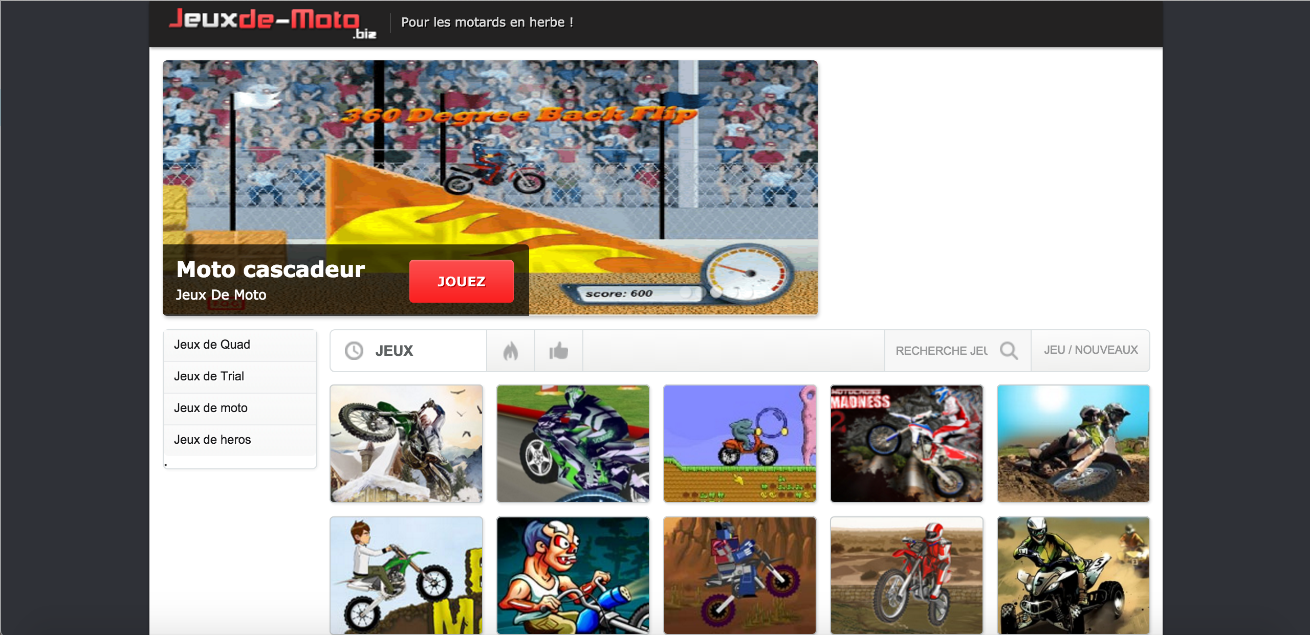 Site jeux moto flash